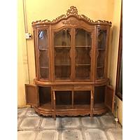 Tủ trưng bày gỗ hương cánh  cong 1,8m , tủ gỗ trang trí