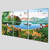 Tranh treo Tường 3D Sơn Dầu SD654- Khung tranh treo tường
