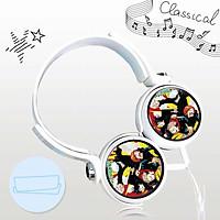 Tai nghe in hình CHÚ THUẬT HỒI CHIẾN JUJUTSU KAISEN anime chibi dạng chụp cắm dây có mic tặng ảnh nhỏ gọn tiện lợi thời trang