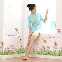 Decal dán chân tường Hoa bồ công anh hồng 2 AmyShop DCT033 - 2 bộ(50 x 260 cm)