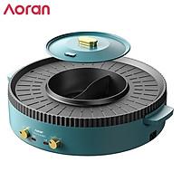Bếp nẩu nướng đa năng 2 trong 1 cao cấp nhãn hiệu Aoran GP-014A công suất 2200W - Hàng Nhập Khẩu