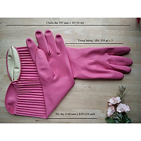 Găng tay cao su dùng trong gia dụng size XL - dài tới nửa cánh tay
