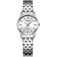 Đồng hồ Nữ Halei - HL502 Dây trắng mặt trắng