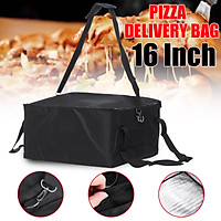 16'' Pizza Food Delivery Bag Insulated Thermal Nylon Holds Bag Aluminium Foil