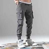 Quần jogger nam túi hộp chất kaki mềm mịn, phong cách đường phố
