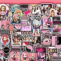 Sticker Dán Nón Bảo Hiểm , Dán Điện Thoại , Dán Laptop | Set 50 Hình Chủ Đề Black Pink