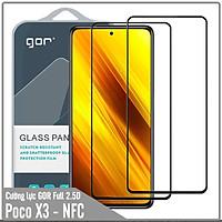 Bộ 2 miếng cường lực GOR Full 2.5D cho Xiaomi Poco X3 NFC - Hàng Nhập Khẩu