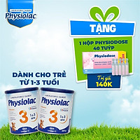 (Tặng 1 hộp Physiodose) Bộ 2 lon sữa bột Physiolac 3 400g (Bổ sung DHA)