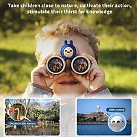Binoculars for Kids 10X Mini Compact Binocular Toys High-Resolution Real Optics Small Telescope for Bird Watching Travel