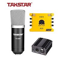 Combo mic thu âm chuyên nghiệp - Micro Takstar PC K500, Soundcard K10 - HÀNG CHÍNH HÃNG