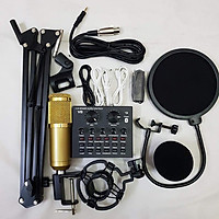 Bộ hát thu âm cao cấp V8 Auto Tune  mic bm900