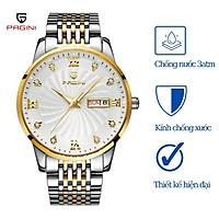 Đồng hồ nam PAGINI PA5588 dây thép kim dạ quang cao cấp chống nước 3ATM