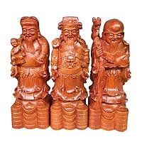 Bộ tam đa Phúc Lộc Thọ 30cm gỗ hương