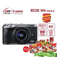 Máy ảnh Canon EOS M6 Mark II EF-M15-45mm F/3.5-6.3 IS STM - Hàng Chính Hãng Lê Bảo Minh