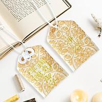 Túi gấm Omamori sức khỏe bình an hoạ tiết vàng có kèm túi chống nước Túi Phước May Mắn dây treo trang trí