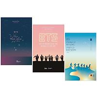 Combo Sách BTS Dành Cho Giới Trẻ: BTS - Những Thước Phim Quay Chậm + BTS - Ở Đâu Có Hy Vọng Ở Đó Có Khó Khăn + BTS - Gửi Tới Những Bạn Trẻ Không Có Ước Mơ  (Hành Trình Tỏa Sáng BTS / Tặng Kèm Postcard Thành Viên Nhóm, Happylife)