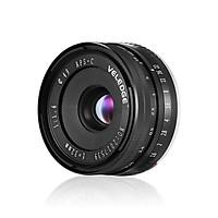 Ống Kính Lớn VELEDGE APS-C Cho Máy Chụp Hình Không Gương Sony E-Mount NEX 3/ NEX 3N/ NEX 5/ NEX 5T/ NEX 5R/ NEX 6/ NEX 7/ A5000/ A5100/ A6000/ A6100/ A6300/ A6500 Đen (32mm F/1.6)