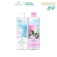 Combo Nước Tẩy Trang Derladie Cleansing Water Witch Hazel, Nước Hoa Hồng Derladie Rose Natural Moisture Toner