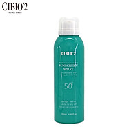 Cibio2 sunscreen spray repellent mosquito makeup SPF50+ whole body neck face anti-uv isolation waterproof sweat male and female light white refreshing sunscreen green 180ml/ bottle