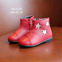 Giày Bốt Bé Gái 1 - 5 Tuổi Kiểu Hàn Quốc GC43 Đỏ