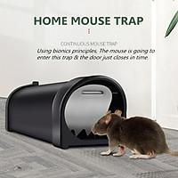 1x Black Automatic Mouse Trap Case Rat Catcher Cage Mice Rodent Pest Humane