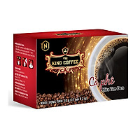 Cà Phê Hòa Tan 100% Đen Thuần Khiết KING COFFEE - Hộp 15 gói x2g