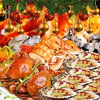 Buffet Christmas Eve Đặc Biệt 50 Món Hải Sản Bao Gồm Thức Uống Tại Gánh Palace 4*