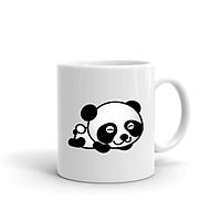 Ly Sứ,Cốc Sứ Cao Cấp In Hình Panda - DV020 – Màu Trắng Cao Cấp