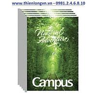 Lốc 5 quyển vở kẻ ngang có chấm Adventure 120 trang B5 Campus NB-BAVT120 màu xanhlá