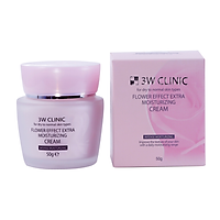 Kem dưỡng 3W Clinic Flower Effect Extra Moisturizing Cream