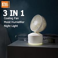 Quạt máy tính để bàn 3 trong 1 Xiaomi Wellsmart Máy tạo độ ẩm siêu âm Cool Mist Beauty