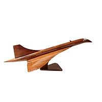 Mô hình máy bay gỗ Concorde siêu thanh - size nhỏ
