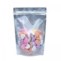 1 kg túi zipper đáy đứng 1 mặt trong 1 mặt bạc size 25x35 (1kg)
