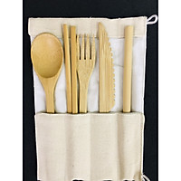 Bộ dao thìa dĩa làm từ tre, gỗ tự nhiên - Hàng thủ công mỹ nghệ đạt tiêu chuẩn xuất khẩu - BE013