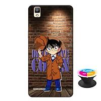 Ốp lưng nhựa dẻo dành cho Oppo A53 in hình Conan Detective - Tặng Popsocket in logo iCase - Hàng Chính Hãng