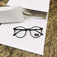 Gọng kính giả cận nam nữ cao cấp Hàn Quốc - Kính cận tròn không độ mẫu đẹp lạ Jun Secrect BDTT