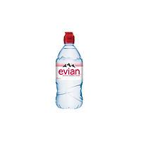 [Giao Nhanh HCM] NƯỚC KHOÁNG EVIAN NẮP THỂ THAO - chai nhựa 75CL - Hàng Nhập Khẩu