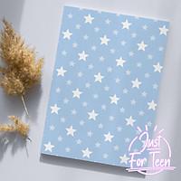 CHO NỮ - Bọc vở họa tiết ngôi sao dễ thương - bao tập minimal đáng yêu