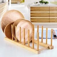 Giá gỗ đựng đĩa 7 ngăn làm bằng gỗ thông cực đẹp và chắc chắn