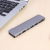 Hub Thunderbolt 3 ra 7 cổng HDMI/ USB-C/ TF/ SD/ USB 3.0 cho Macbook, Dell XPS -UTH71360