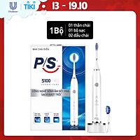 Bàn Chải Điện P/S S100 PRO - Công Nghệ Sóng Âm, Chải Sạch Mảng Bám Tới 10X - Trắng Sáng