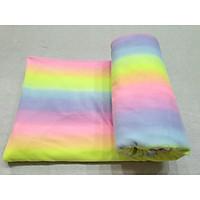 Mền nỉ cotton Sắc Màu 2m x 1m6
