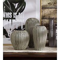 Bình, lọ cắm hoa gốm sứ Varien - Bộ 3 bình
