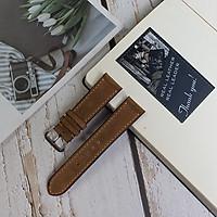 [Da thật] Dây đồng hồ da bò sáp handmade AL105 - Size 20/ Size 22; 100% da bò thật, BH 3 năm
