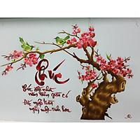 Chữ phúc hoa đào - pq702 - 66x86cm