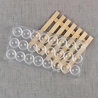 Khuôn Socola Nhựa Cứng 24 Hình Bán Cầu Trơn