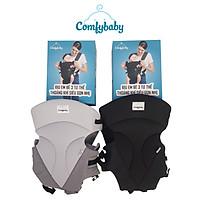 Địu em bé 3 tư thế có đỡ cổ sơ sinh - thoáng khí chống gù cho bé ComfyBaby CF-BK010