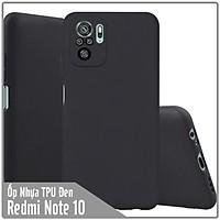 Ốp lưng dẻo đen cho Xiaomi Redmi Note 10 4G - Redmi Note 10S nhám, che Camera