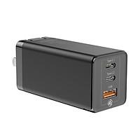 Adapter củ cóc sạc nhanh 65W đa năng1 cổng sạc USB và 2 PD Type-C hiệu Baseus Mini GaN Travel chuẩn sạc nhanhPD 3.0 & QC 4.0 - Hàng nhập khẩu