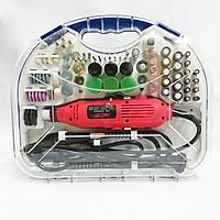 Bộ Máy Khoan Mài khuôn Khắc mini Đa Năng  100 chi tiết (Đỏ) 180W 6 tốc độ + Tặng móc khóa kĩ thuật